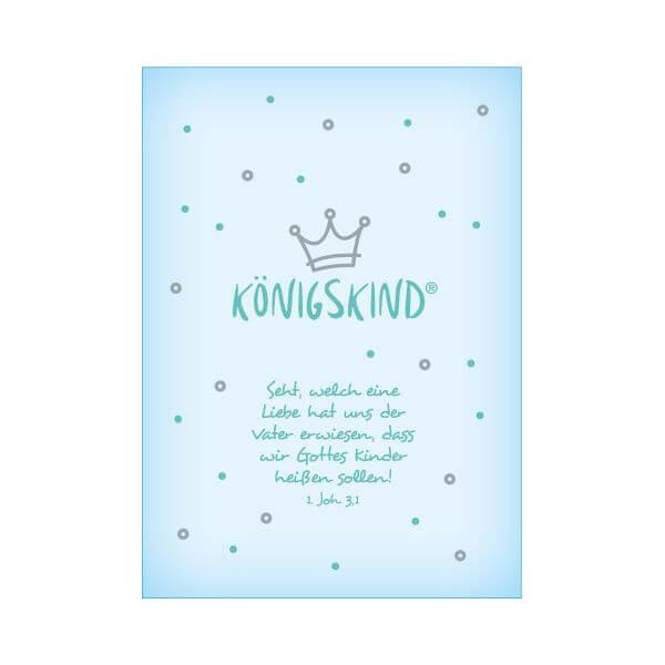 Postkarte Königskind Baby