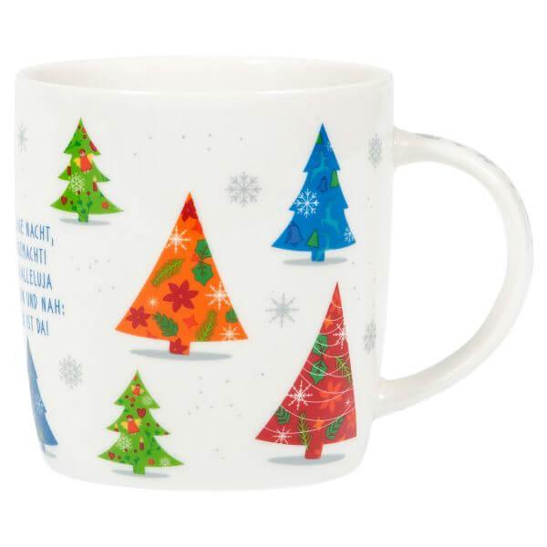 Weihnachtstasse Tannenbäume 1