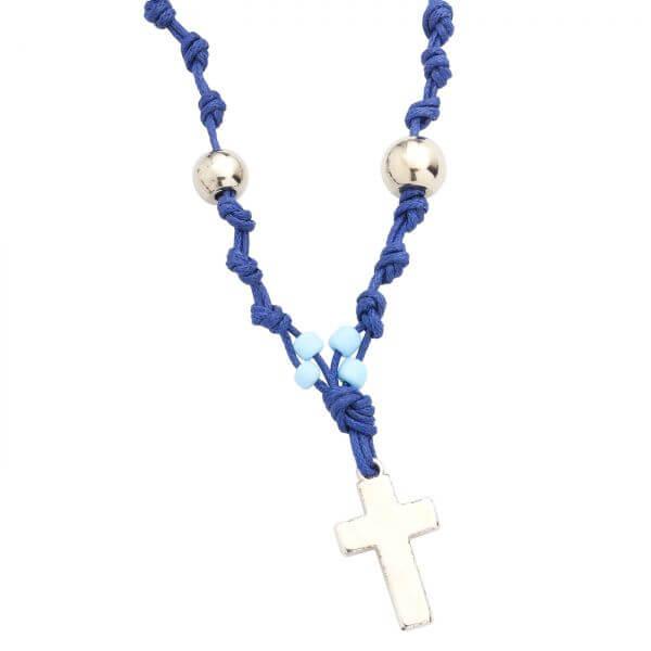 6044 Kette blau Kreuz