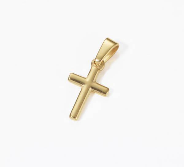 Anhänger Kreuz, vergoldet