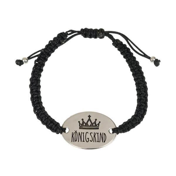 Armband Königskind schwarz
